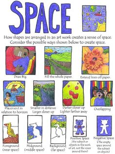 art elements, art lessons, art principles, abcs of art, art lesson space