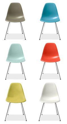 a set of colorful eames
