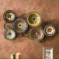 Scattered Tuscan Plates Metal Wall Decor