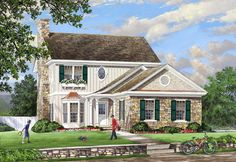 Cottage   Country   Traditional   House Plan 86142