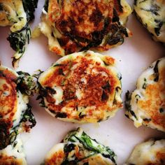 spinach & ricotta fritters
