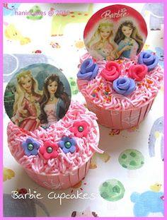 ..dapurnya bunda hanin..: Barbie Cupcakes Set