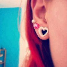 Heart #piercing #plugs #tunnels #bodyjewelry