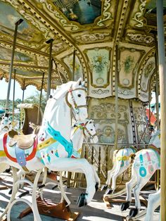 Vintage Carnival/Fair Carousel (Merry-Go-Round) Horse Photo Print on Etsy