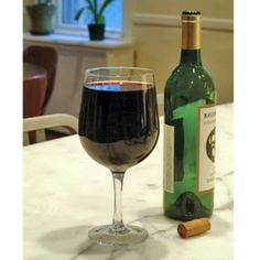 extra large wine glass...holds an entire bottle of wine. For those of you who only have one glass a night...lol