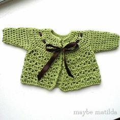 casaquinho de croche para bebe