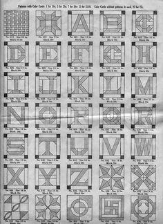 A - Z quilt blocks