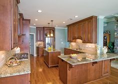 The Rowan - 1366. A large gourmet kitchen offers every amenity! http://www.dongardner.com/plan_details.aspx?pid=4713. #Gourmet #Kitchen #Design