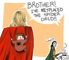 Babysitting with Thor and Loki...