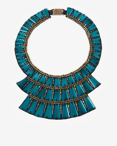 turquoise tiered collar