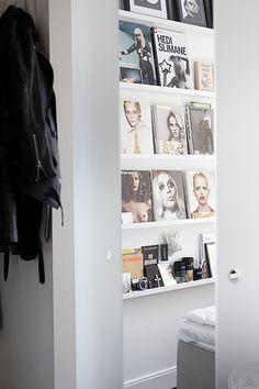 interior design, book displays, offic, librari, magazines, magazine racks, display shelves, apartments, bedroom