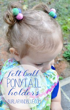 felt ball ponytail holders {a tutorial}