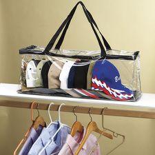Hat Storage Bag #HouseholdOrganization #OrganizationIdeas