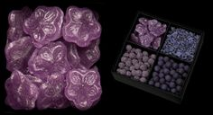 Violet flavored candies from Amorino.