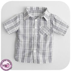 Summer shirt for Boys  button up shirt with by TheLilyBirdStudio, $6.90