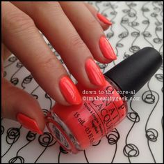 OPI Down to the Core-al OPI Neons 2014. ©imabeautygeek.com red neon, neon opi, opi neons 2014, opi neon 2014