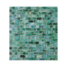 "American Olean 1-1/4"" x 5/8"" Visionaire Peaceful Sea Glass Wall Tile"