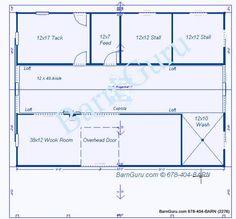 Stall Horse Barn Plan Horse Barns Pinterest