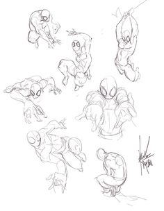 spiderman poses by b