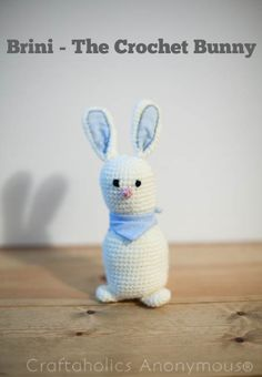 Crochet Bunny Pattern - he's adorable!