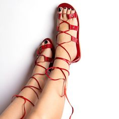 Roma Sandals Womens Red, $92, now featured on Fab.