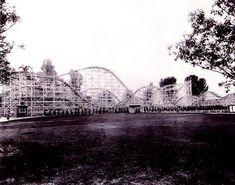 Old Big Dipper coaster at Portland's Jantzen Beach amusement park, originally built in the mid-1920s, torn down in 1970