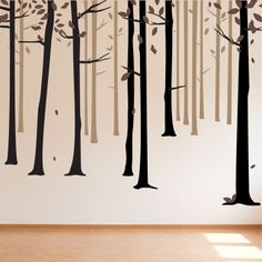 Fall Forest Decal in Brown