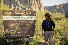 As you go further along the Apache Trail, make a stop at Lost Dutchman State Park. Here one can get up close and personal with the ghostly and volcanic, Superstition Mountains which rise some 2,000 feet into the desert sky! #hiking #mesaaz #superstitionmountains