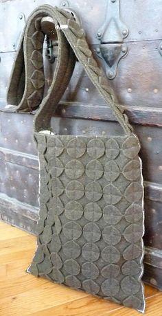Upcycled wool bag