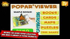 PopAR Viewer - a great free iOS app that allows users to view augmented reality objects as well as create books, cards, puzzles, and more