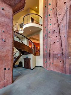 Imagine having your own rock-climbing wall at home...