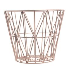 Wire Basket Large - Rose