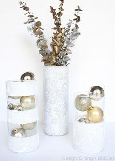 centerpiec vase, christmas centerpieces, christma decor, diy christmas decorations, diy centerpieces