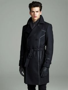 Winter 2012-2013 Versace Menswear Lookbook, Exquisite Contrast of Leather Against Cold