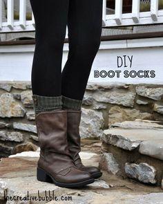 DIY Boot Socks (made from old socks)