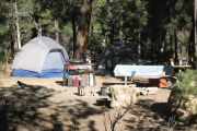 Mather campground on the rim of the Grand Canyon