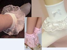 socks with frilly lace