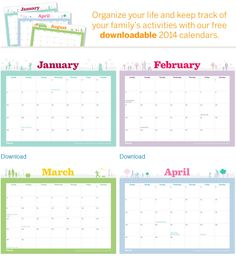 Never double-book again! Plot out all of your family's monthly to-dos in one place on our #free downloadable calendar pages.