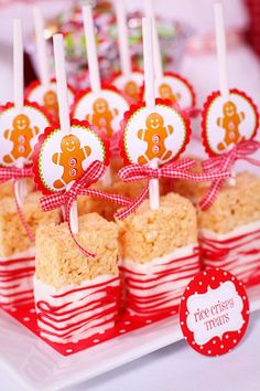holiday ideas, holiday treats, white chocolate, rice krispies, craft stores, krispie treats, christma, parti, rice crispy treats