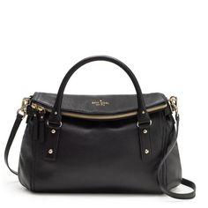 purs, style, hill small, designer handbags, small lesli, leather handbags, cobbl hill, kate spade, black