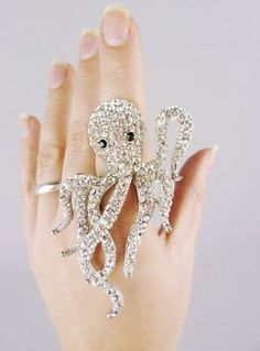 diamond octopus ring