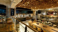 Very cool ceiling in this new Starbucks concept store, Amsterdam