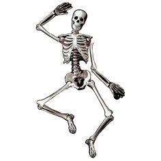 Decora tu fiesta pirata con un troquelado grande de esqueleto, ¡articulado! De www.fiestafacil.com, €3,95 / Decorate your pirate party with a large articulated skeleton cutout - from www.fiestafacil.com