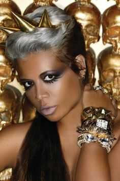 Love the grey hair color -  Kelis