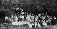 The 75th birthday gathering for Anderson Hatfield (front row center)