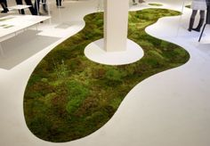 Terramac Moss Carpet  Unika Ltd's Terramac® is made of biodegradable plant biomass that is combined  with resin to create a fabric which works as a kind of planter box, allowing you to  lay it down and grow mosses and small plants indoors as a living carpet.  Photo: www.interiordesign.net     www.unitika.co.jp