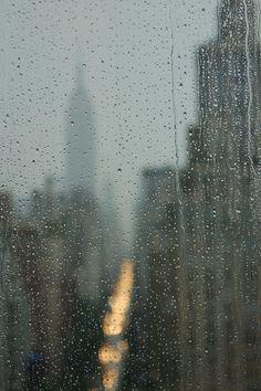 rainy through the window