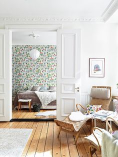 Josef Frank floral wallpaper. http://sulia.com/channel/home-design/f/ef46db6e-9684-4461-9a7a-ea671f0813fa/?pinner=6999951&