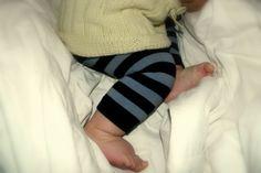 the sock leggings look good on Elliot! so easy to make!