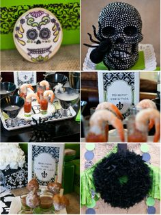 Green Halloween Party Ideas: Party Food and Decor #green #halloween #party